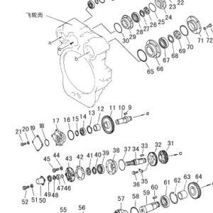 Запчасти механизма отбора мощности SD16